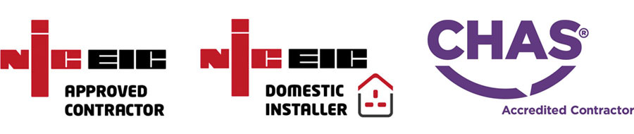 NICEIC Approved Contractor, NICEIC Domestic Installer, CHAS Accredited Contractor