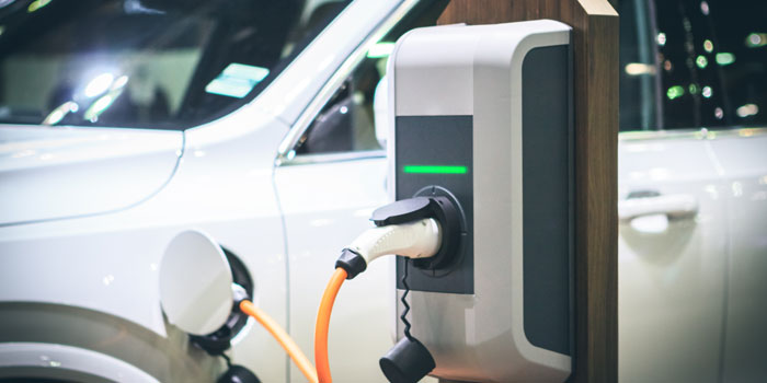 Commercial vehicle electric charging point in Shropshire